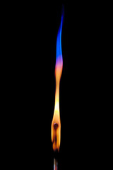 The match with original colored flame