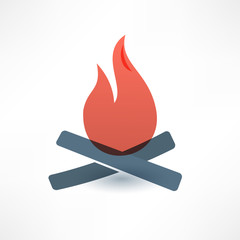 Bonfire icon. Logo design.
