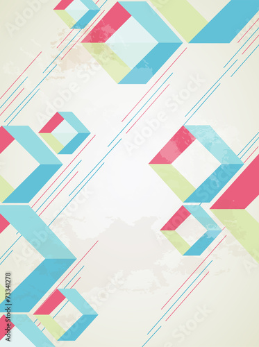 Abstract retro-style background. Vector © Alex