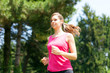 Woman doing jogging outdoors