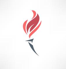 Torch icon. Logo design.