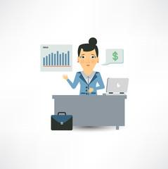 accountant sitting behind a desk