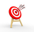 3d target and arrows