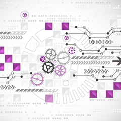 Abstract computer technology background for your business