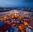 Leinwandbild Motiv Weihnachtsmarkt in Dresden