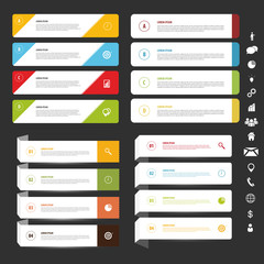 Infographic banner set. Vector template