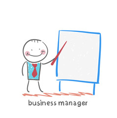 business manager at the poster shows