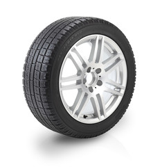 Snow tyre  / with clipping Path