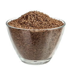 Cumin seeds in glass bowl