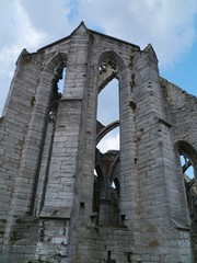 Ruin of the saint Catherine church in Visby in Sweden