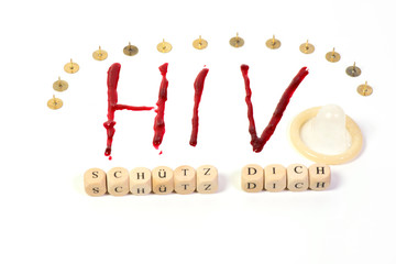 Diagnose HIV Aids als Freisteller