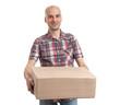 man holding a parcel