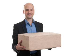 man with parcel