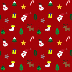 Christmas theme background red seamless pattern