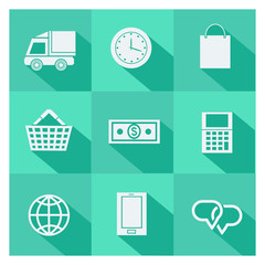 Set of online shopping and ecommerce icons