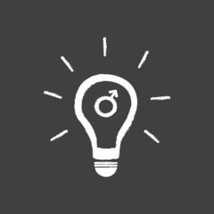 Idea Light Bulb Vector With Male Sexual Problems