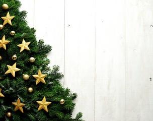 Gold star Christmas tree