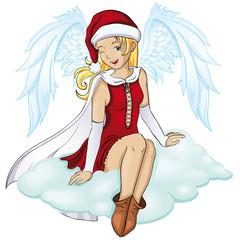 fröhlicher Weihnachtsengel