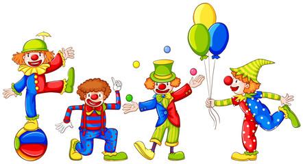 Playful clowns