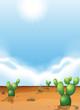 Постер, плакат: Cacti in the desert