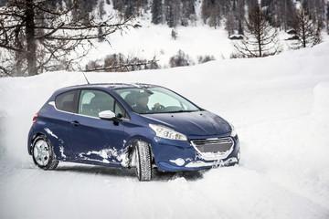 Car on snow