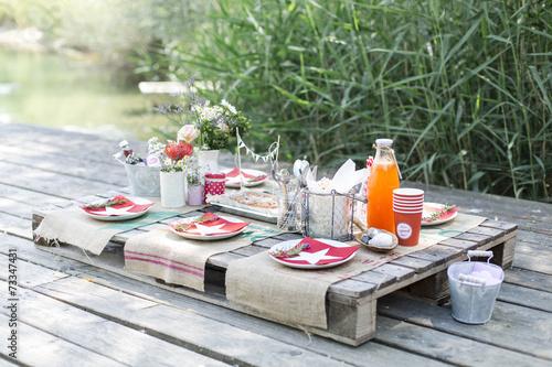 Tuinposter Picknick gesundes picknick