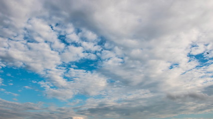 Sky clouds with timelapse