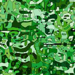 seameless green mosaic texture