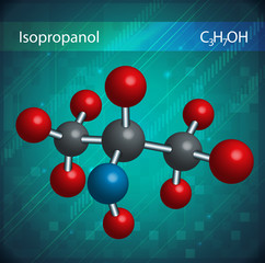 Isopropanol molecules