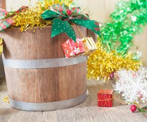 Christmas gift bugket