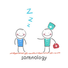 somnology come to a patient who is sleeping