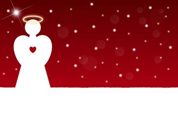 christmas angel, red, illustration #4