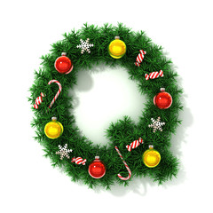 Christmas tree font letter Q