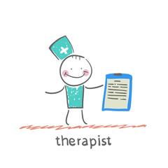 therapist holding folder in hand