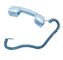 Phone hook isolated on white
