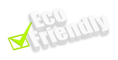 Eco Friendly 3d Text