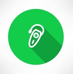 Single hearing aid icon