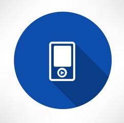 Portable musical player icons