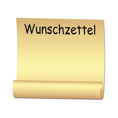 Paper roll, wish list