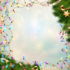 Christmas defocused light. EPS 10