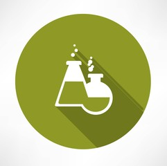 chemical flasks icon
