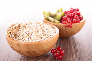 oat and fruits