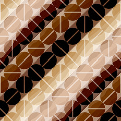 Coffee pattern in retro style