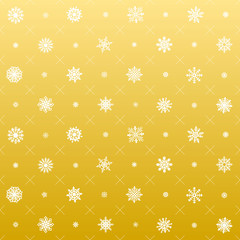 Elegant Christmas Background, Seamless Snowflakes. gold vector