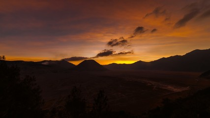 Sunset Time Lapse at Mount Bromo, Indonesia