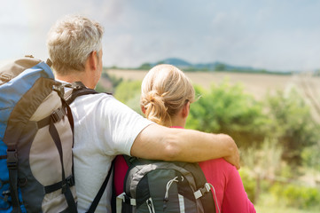 Mature Couple With Backpack