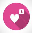 Detaily fotografie heart said about money