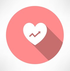 heart with chart icon