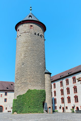 Powder tower in the fortress Marienberg, Würzburg (Germany)