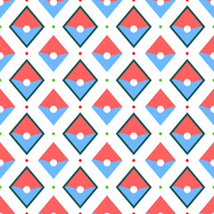Abstract red and blue geometric pattern